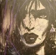 Reproduction acrylique sur toile de la Démone Blanche(Zilon)