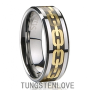 Summer Latest Gold-plated Unisex Tungsten Wedding Ring - Free Shipping