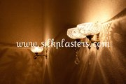 Silk Plaster is natural,  odorless wall covering material!