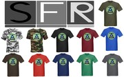 Mens Dark T-shirt  2001 Triangle Millennium  design shirts NEW