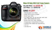 Hurry,  Limited offer on Nikon D4 Body DSLR Full Frame Camera