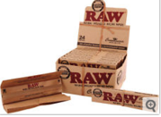 24 RAW Classic Rolling Papers Full Box Natural Paper 1 1/4 Size for sa