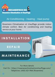 Air Conditioning – Heating – Heat pump | Rosemere Climatise