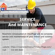 SERVICE and MAINTENANCE | Rosemere Climatisation et Chauffage