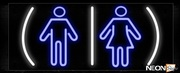 Restrooms With Man Woman Sign Neon Sign