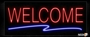 Welcome With Wavy Underline Neon Sign