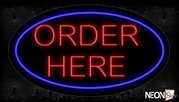 Red Order Here Traditional Neon