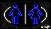 Restroom Logo Neon Sign