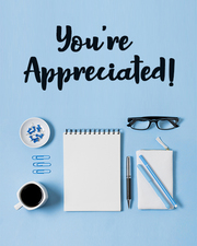 Appreciation group cards for office